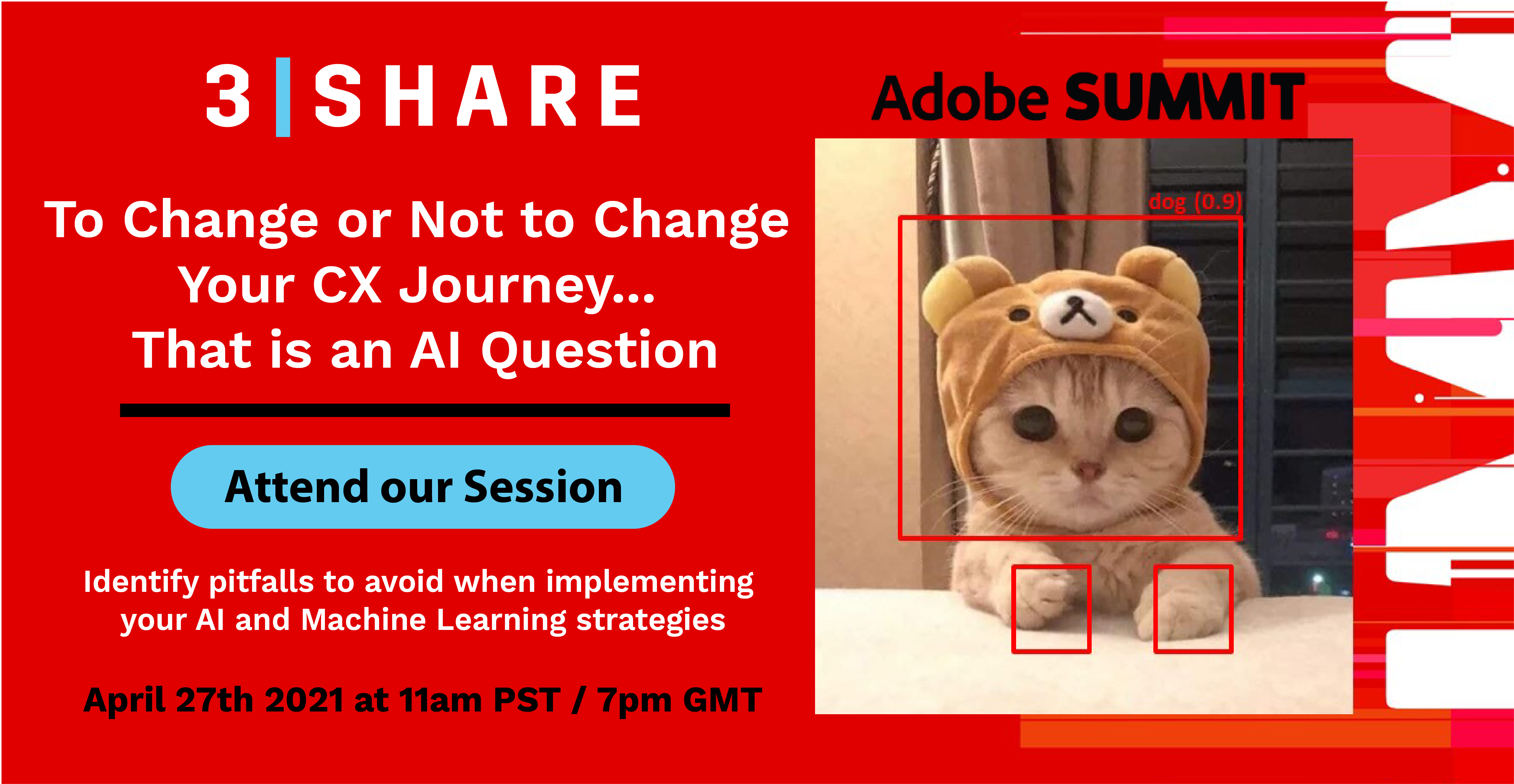 3SHARE: Join us at #AdobeSummit for our FREE virtual session on AI and CX: https://t.co/HMjDlsieQs nnTim Donovan of #3SHARE… https://t.co/0kEolbs9pI